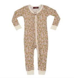 Rose Floral  Zipper Pajamas