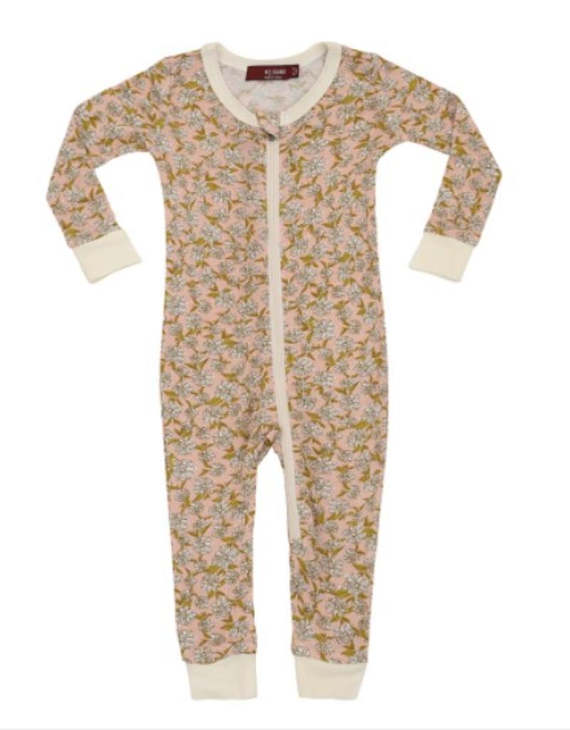 Rose Floral  Zipper Pajamas