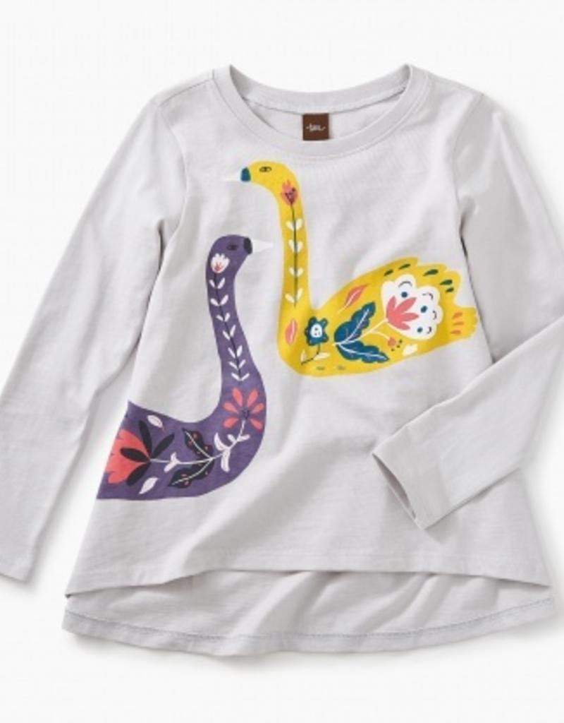 Artful Swans Twirl Top