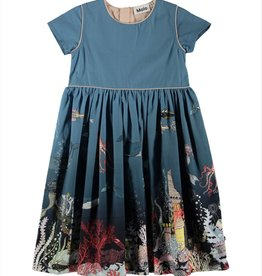 Carin Short Sleeve Ocean Dress