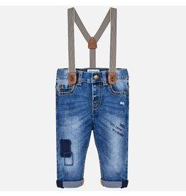 Monty Demin Pants w/ Suspenders