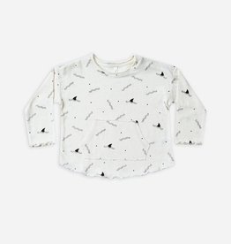 Shark fin Long Sleeve Pouch Tee