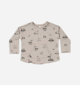 Ships Long Sleeve Pouch Tee