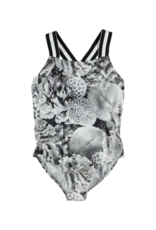 Neve Printed Cross-Back One-Piece