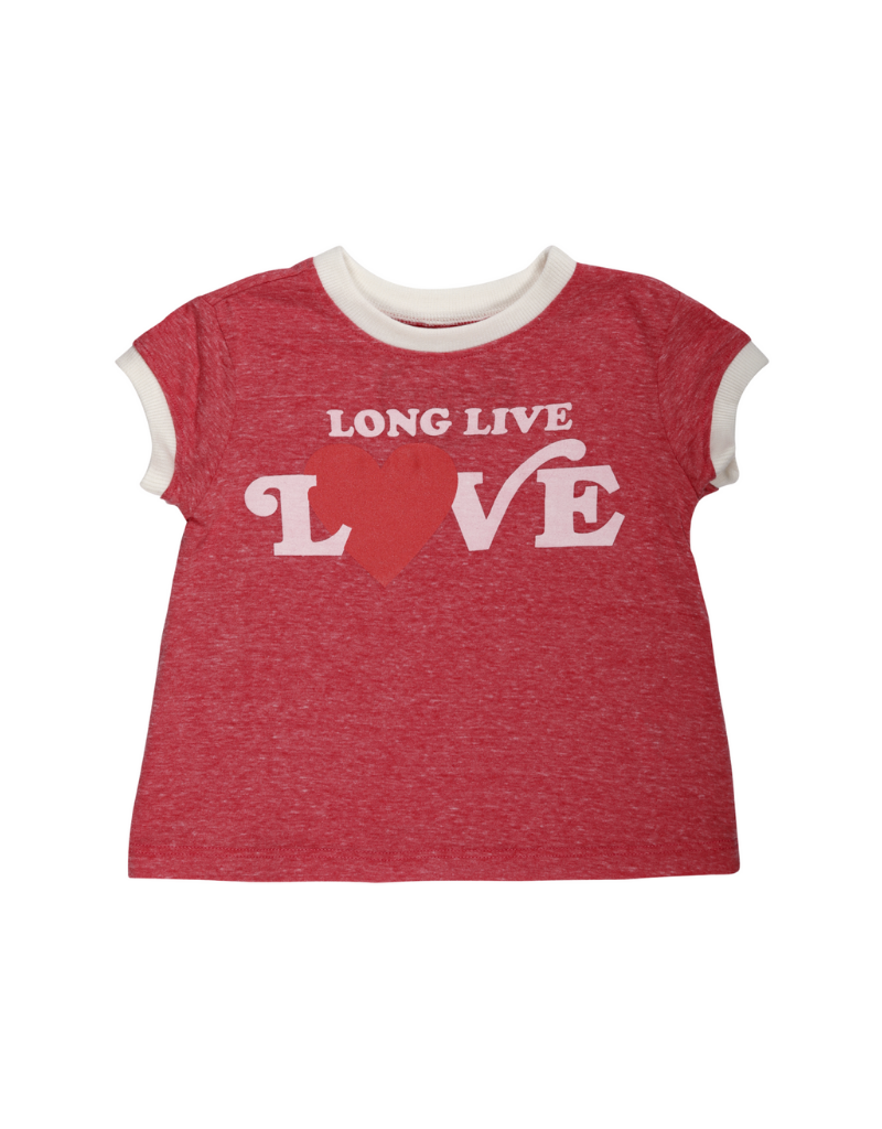 Thandie Long Live Love Ringer Tee