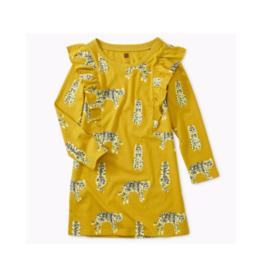 Printed Ruffle Sleeve Dress Dress