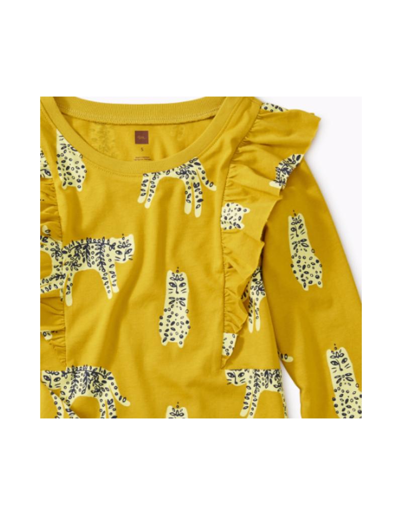 Printed Ruffle Sleeve Dress
