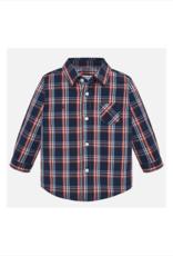 Mohamed Long-Sleeve Poplin Check Shirt