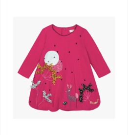 Calliope Pink Deer Bubble Dress