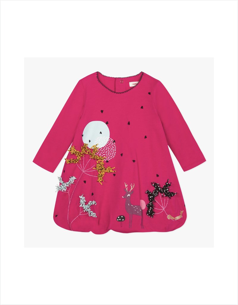 Calliope Pink Deer Bubble Dress