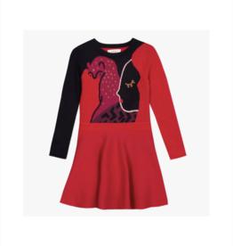 Catalina Graphic Jacquard Sweater Dress