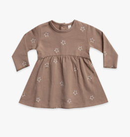 Star Embroidery Clay Fleece Dress