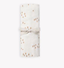 Organic Cotton Ivory All-Over Tree Print Swaddle