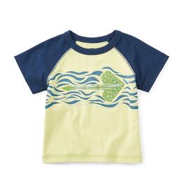 VAULT CLOTHES-Boy Tea Collection Stingwave Graphic Tee 6W42111 CITRON