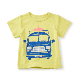 VAULT CLOTHES-Boy Tea Collection Surf Van Graphic Tee 7S42104 LEMONGRASS