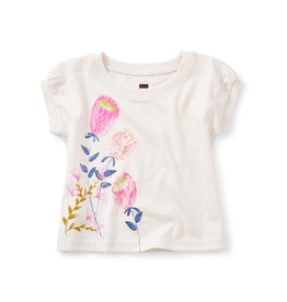 VAULT CLOTHES-Girl Tea Collection Banksia Graphic Baby Tee 7S32109 CHALK