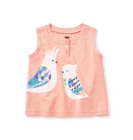 VAULT CLOTHES-Girl Tea Collection Corella Graphic Henley 7M32105 SHERBERT