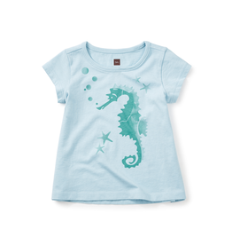 VAULT CLOTHES-Girl Tea Collection Bubble Brumby Graphic Tee 7M32114 OCEAN MIST