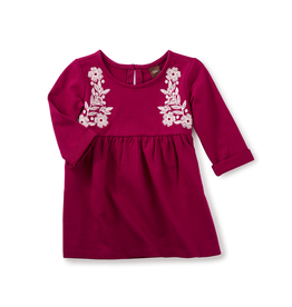 VAULT CLOTHES-Baby Girl Tea Collection Ailsa Embroidered Dress 7W32306 GOOSEBERRY