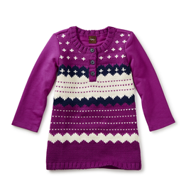 VAULT CLOTHES-Baby Girl Fair Isle Sweater Dress