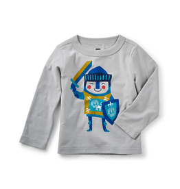 VAULT CLOTHES-Baby Boy Tea Collection Little Knight Graphic Tee 7W42104 STORM GREY