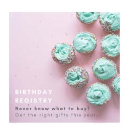Birthday Registry