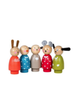 Grande Famille Set of Wooden Characters (5 pcs)