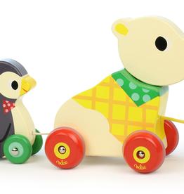 Bear & Penguin Pull Along Musical Toy