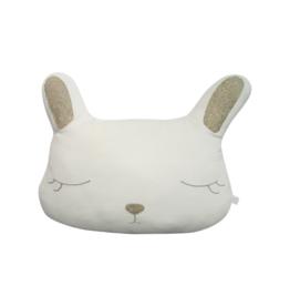 Off White Velvet Bunny Plush