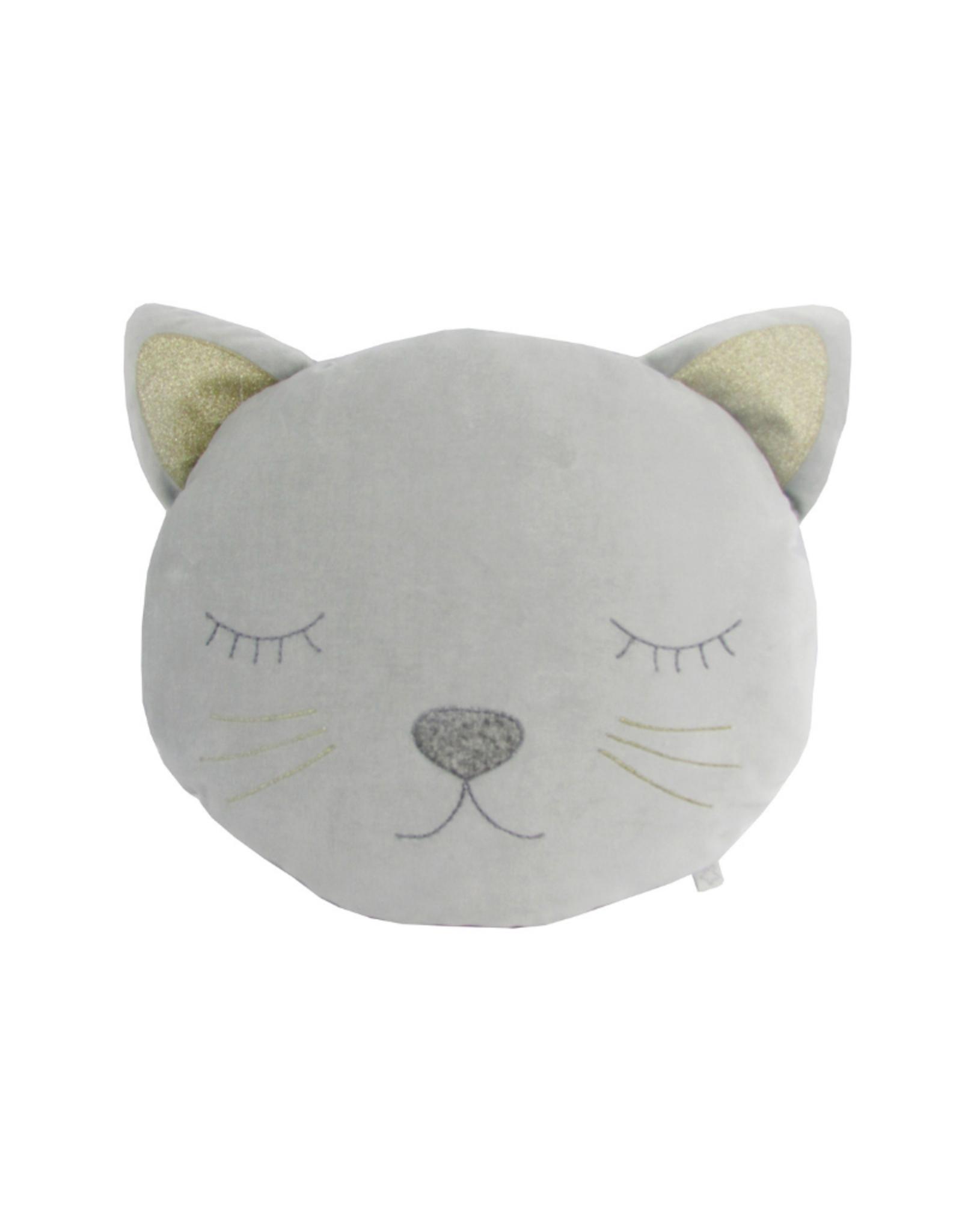 Grey Velvet Cat Plush