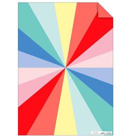 Color Wheel Gift Wrap Sheets