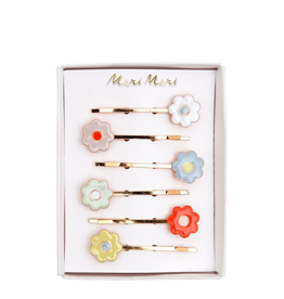 Enamel Daisy Hairclips