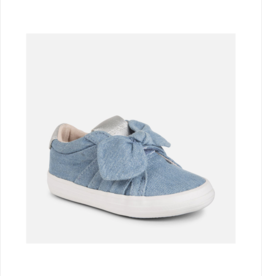 Knit Trainers Bow Sneakers