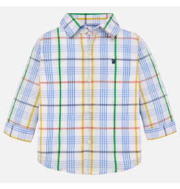 VAULT CLOTHES-Baby Boy Marty Long Sleeve Checkered Button-up