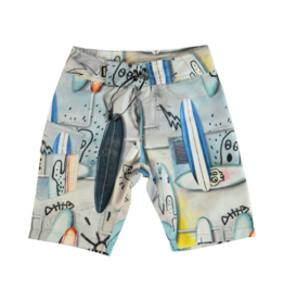 VAULT CLOTHES-Boy Nalvaro Printed Swim Trunks