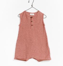 VAULT CLOTHES-Baby Boy Pierce Striped Jumpsuit