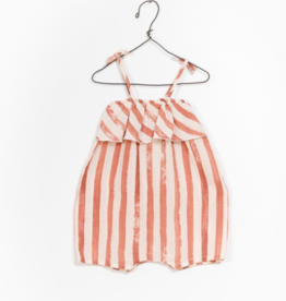 VAULT CLOTHES-Baby Girl Pura Striped Romper