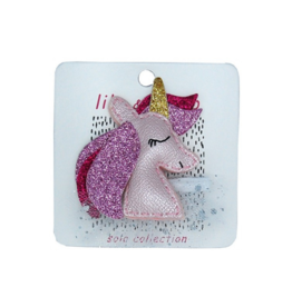 Pretty Pink Unicorn Hairclip