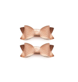 Blanca Leather Bow Tie Clips