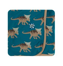 Swaddling Blanket Heritage Blue Kosmoceratops