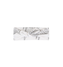 Grey Zebra Organic Headband