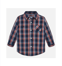 VAULT CLOTHES-Baby Boy Mohamed Long-Sleeve Poplin Check Shirt