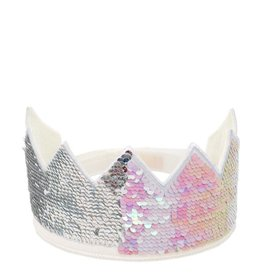 Iridescent Sequin Party Crown