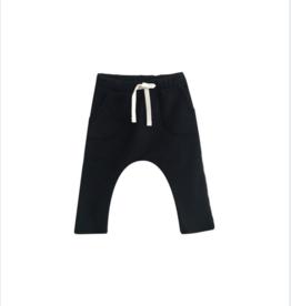 VAULT CLOTHES-Baby Boy Black Patch Pocket Sweatpants
