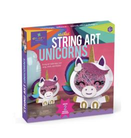 Craft-tastic Stacked String Art Unicorns