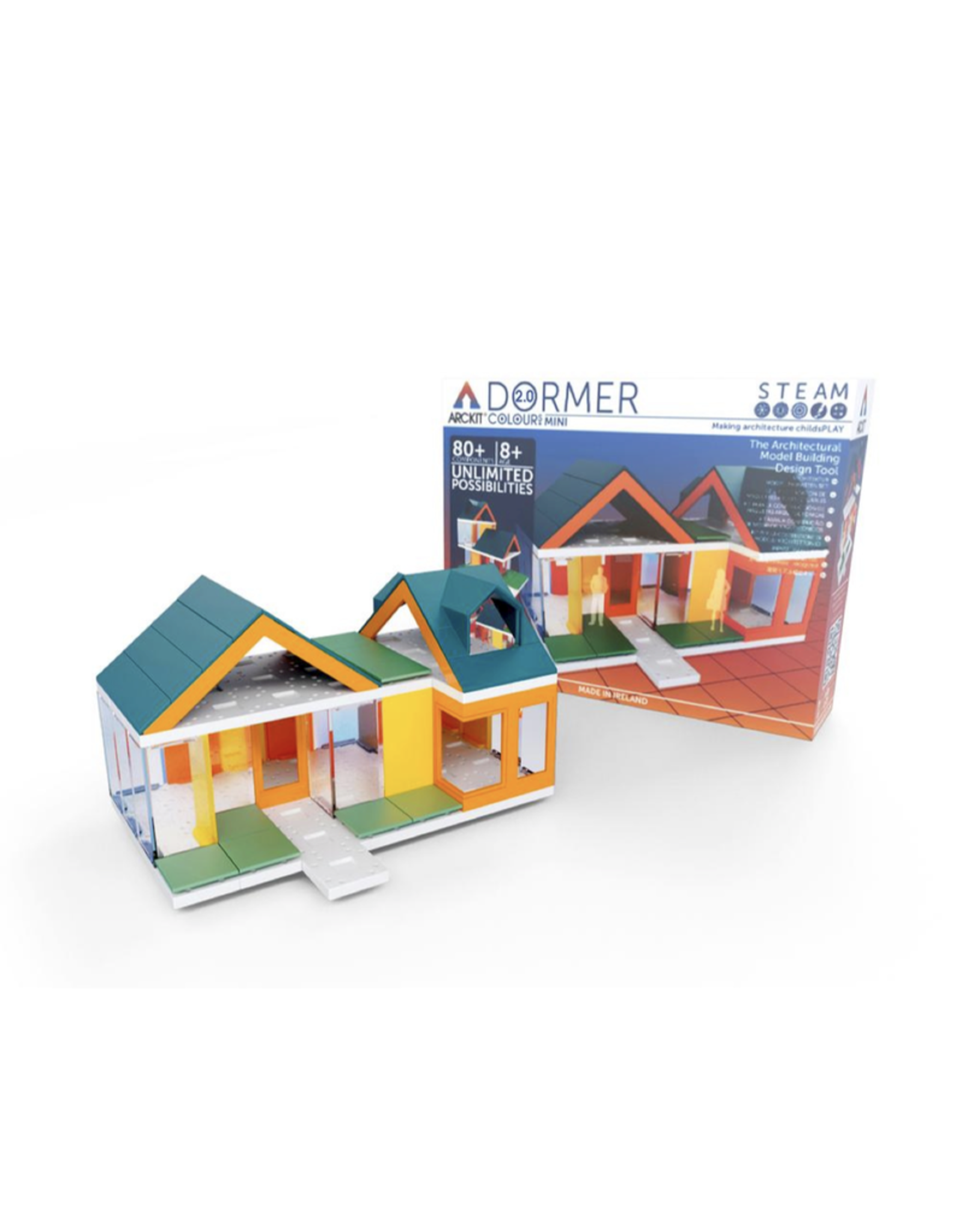 Mini 2.0 Dormer Color Kids Scale Model Building Kit