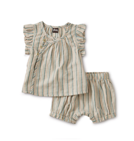 VAULT CLOTHES-Baby Girl Sparkle Stripe Baby Set