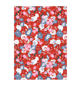 Ruby Red Flower Wrap
