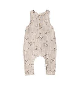 VAULT CLOTHES-Baby Boy Flock Button Baby Jumpsuit