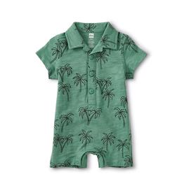VAULT CLOTHES-Baby Boy Camp Collar Romper